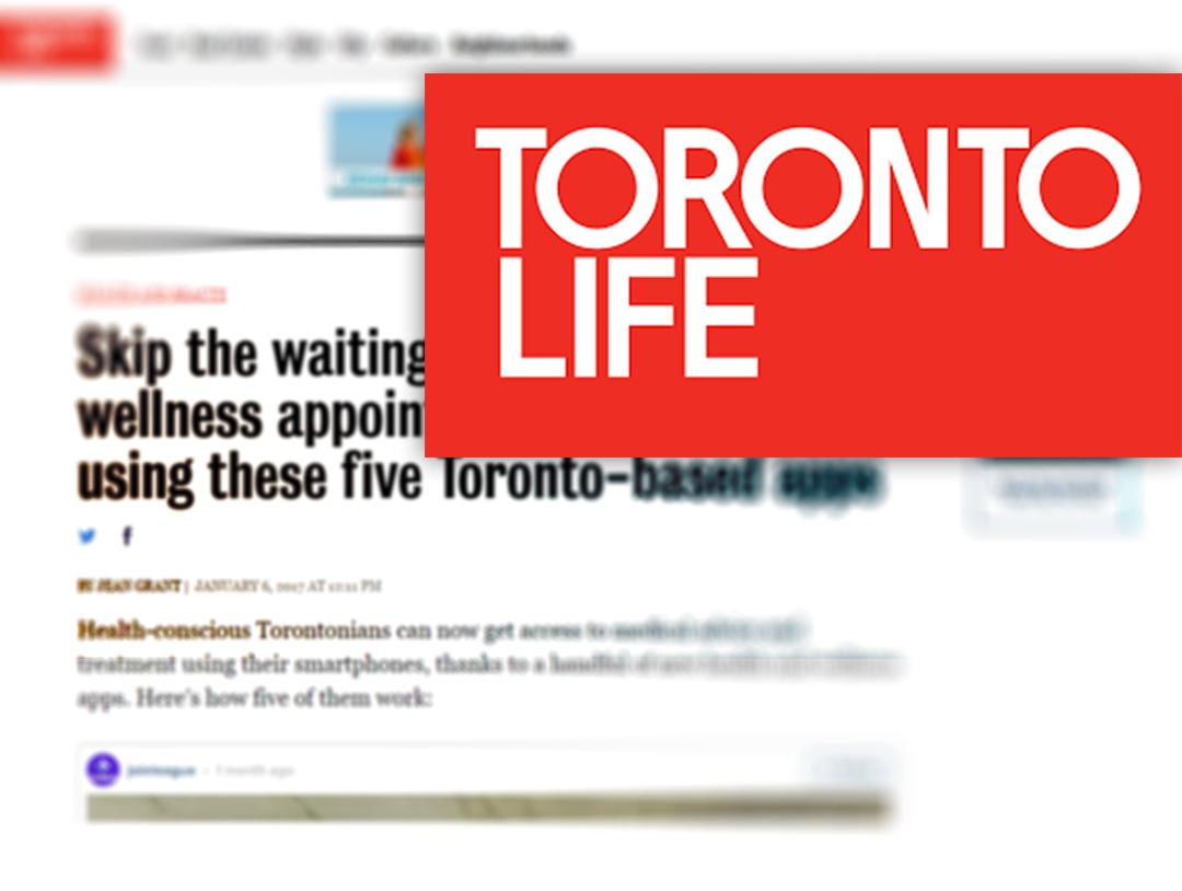 Toronto Life wellness apps Toronto