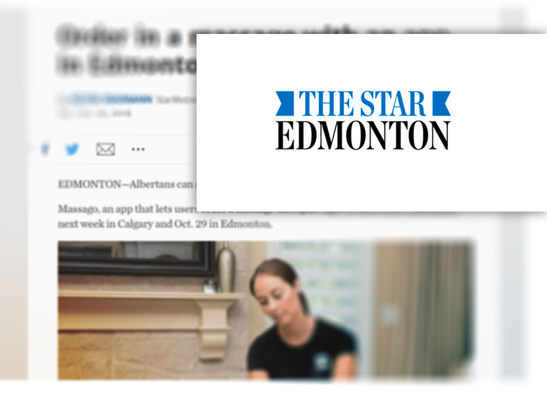 edmonton star - massago mobile massage app