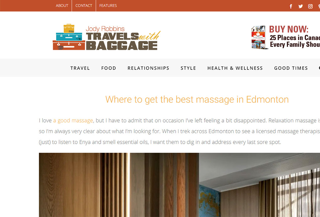 travel blog massage